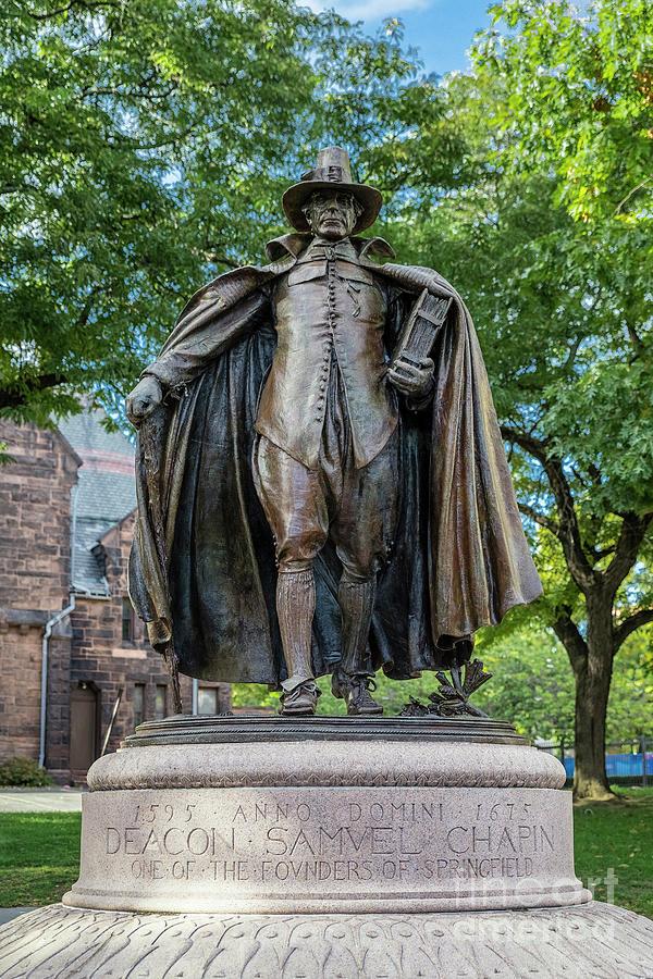 Augustus Saint-gaudens Photograph - The Puritan Statue by John Greim