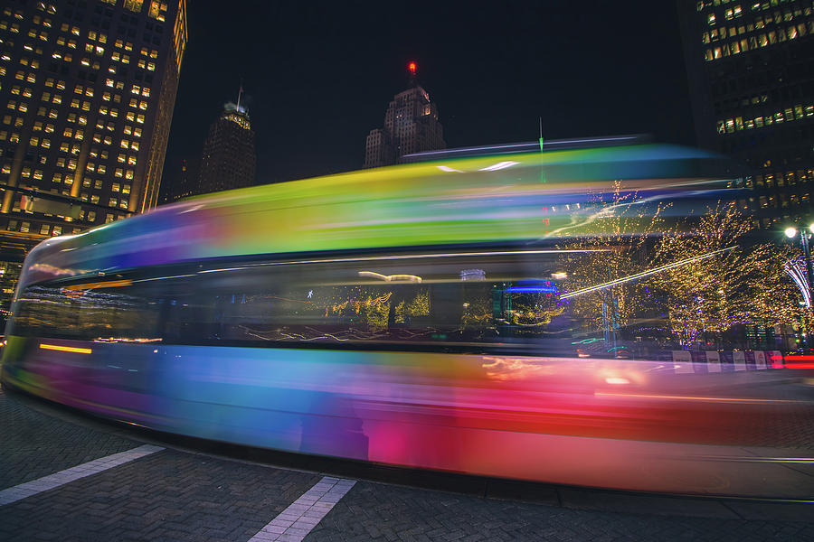 The QLine zipping through downtown by Jay Smith