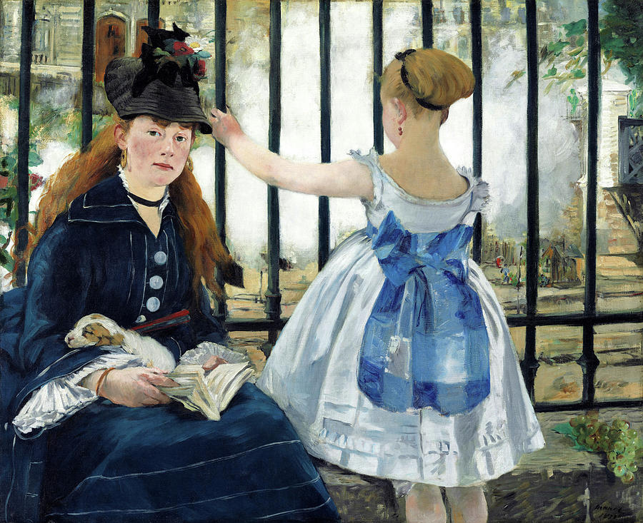 Railway Painting - The Railway - Digital Remastered Edition by Edouard Manet