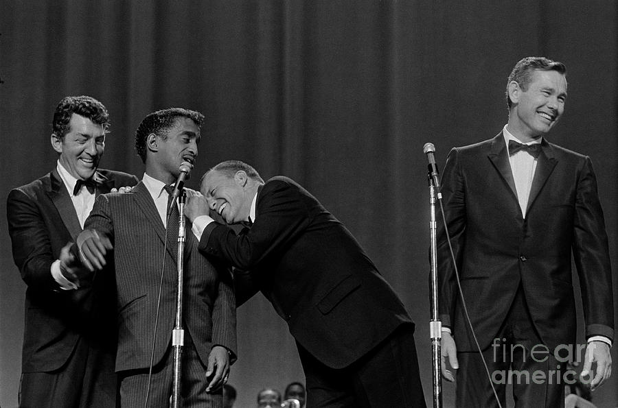 The Rat Pack Perform With Carson Photograph by Cbs Photo Archive