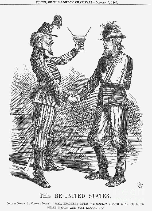 The Re-united States, 1865. Artist John Drawing by Print Collector
