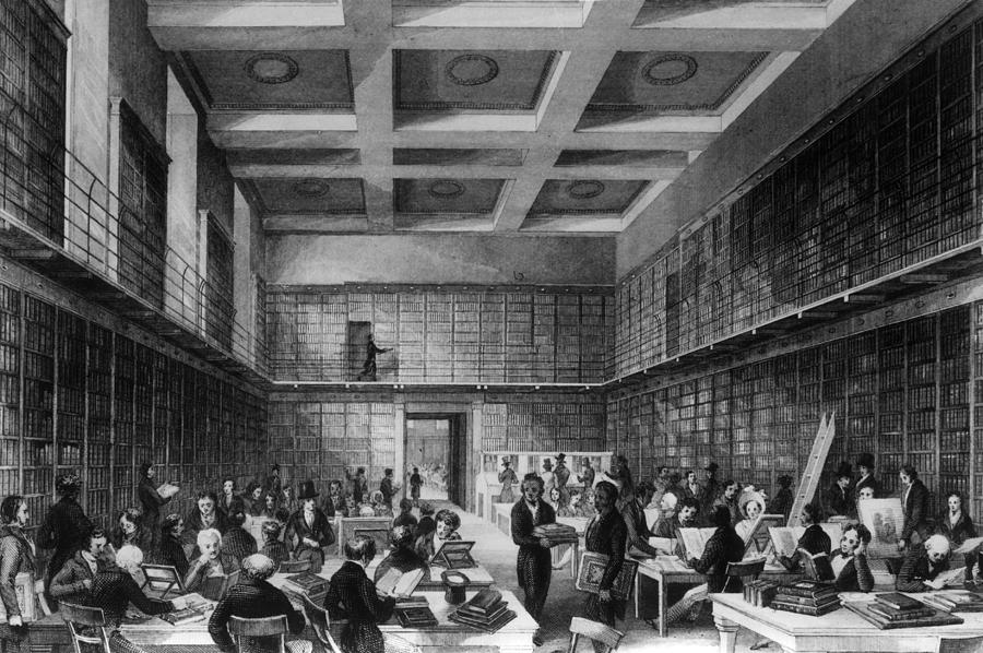 The Reading Room Digital Art by Hulton Archive