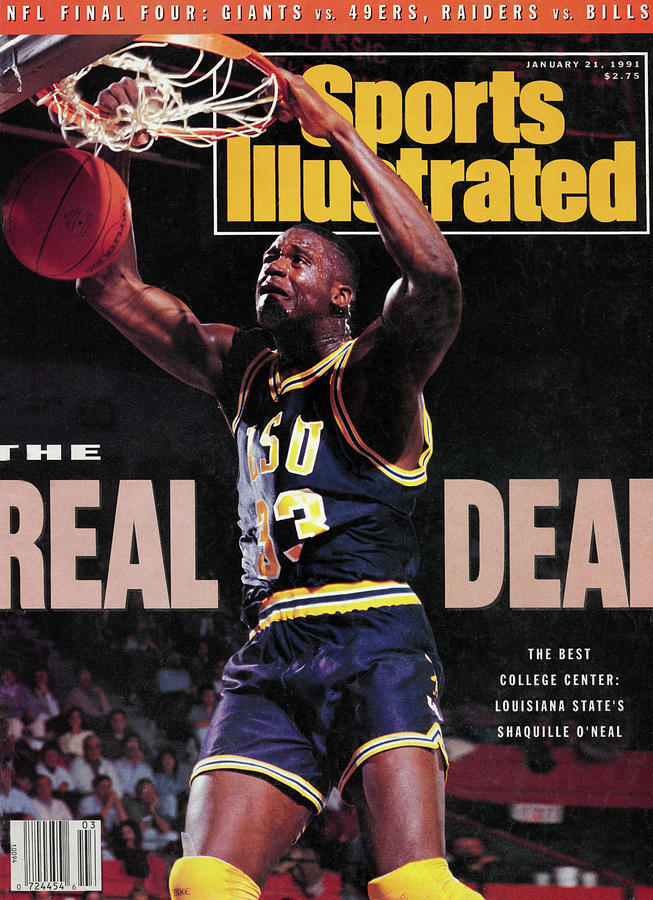 The Real Deal, The Best College Center Louisiana State Sports Illustrated Cover Photograph by Sports Illustrated