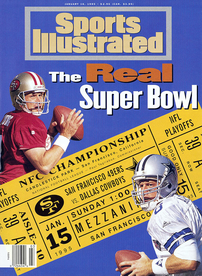 The Real Super Bowl, 1995 Nfc Championship Preview Sports Illustrated Cover Photograph by Sports Illustrated