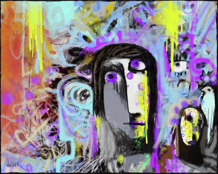 Painting Mixed Media - The Reckoning by Ken Law