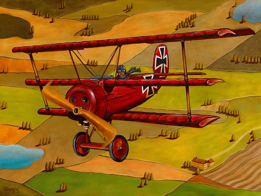 The Red Baron Painting - The Red Baron by Bryan Ubaghs