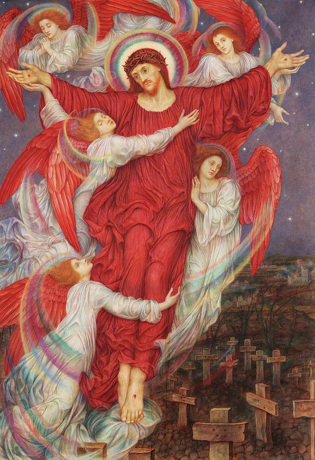 Evelyn De Morgan Painting - The Red Cross, 1916 by Evelyn De Morgan