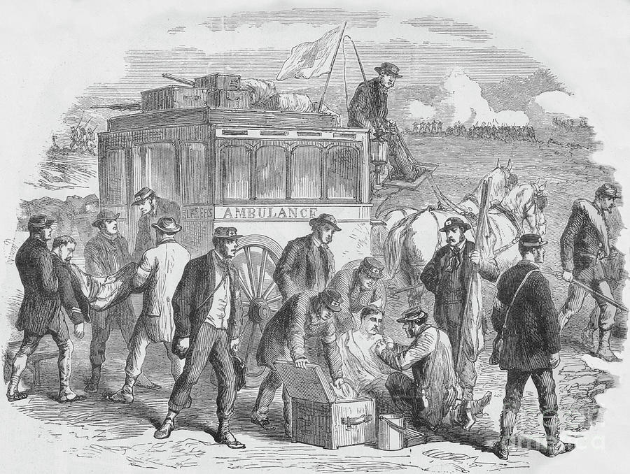 The Red Cross Society At Work Drawing by Print Collector