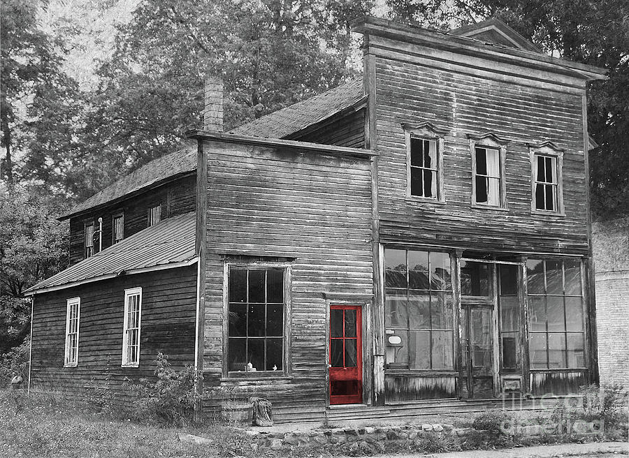 The Red Door Of Michagamme Photograph