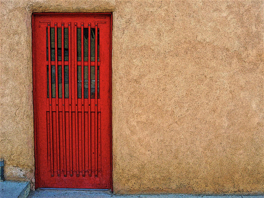 The Red Door by Western Light Graphics