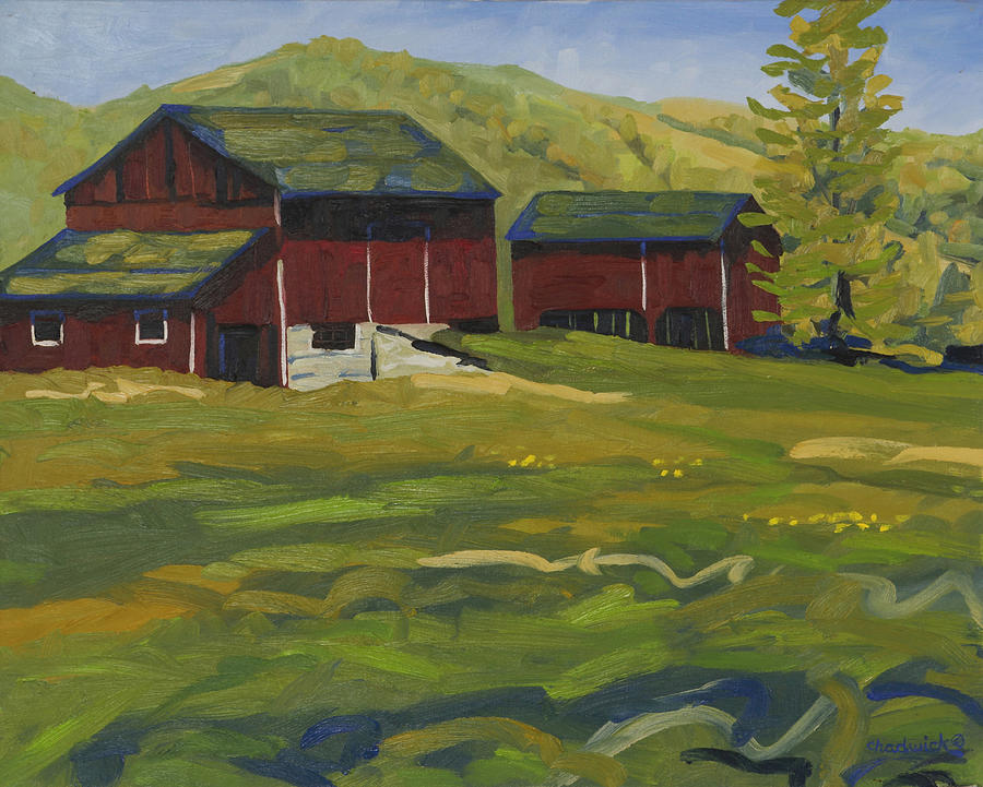 447 Painting - The Red Green Barn by Phil Chadwick