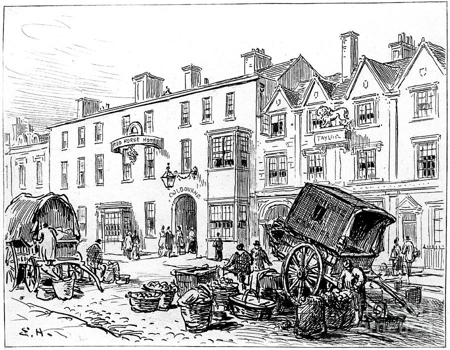 The Red House Hotel Drawing by Print Collector