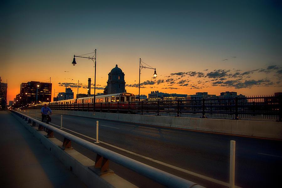 The Red Line - Boston, Ma by Joann Vitali