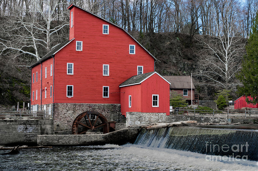 The red mill historical landmark.  by Sam Rino