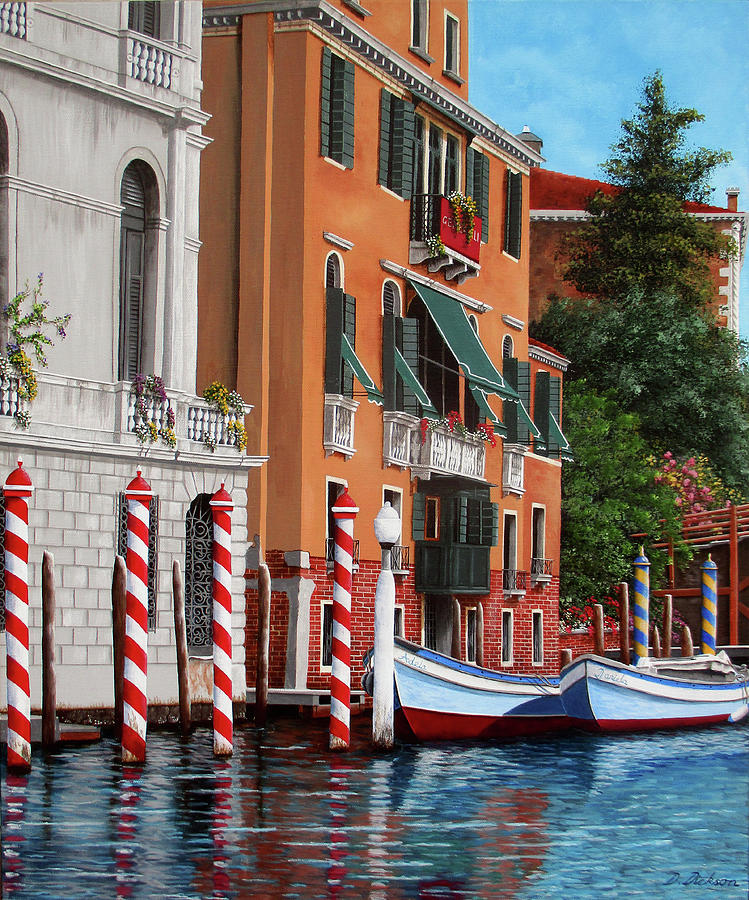 The red posts, venice by Debra Dickson