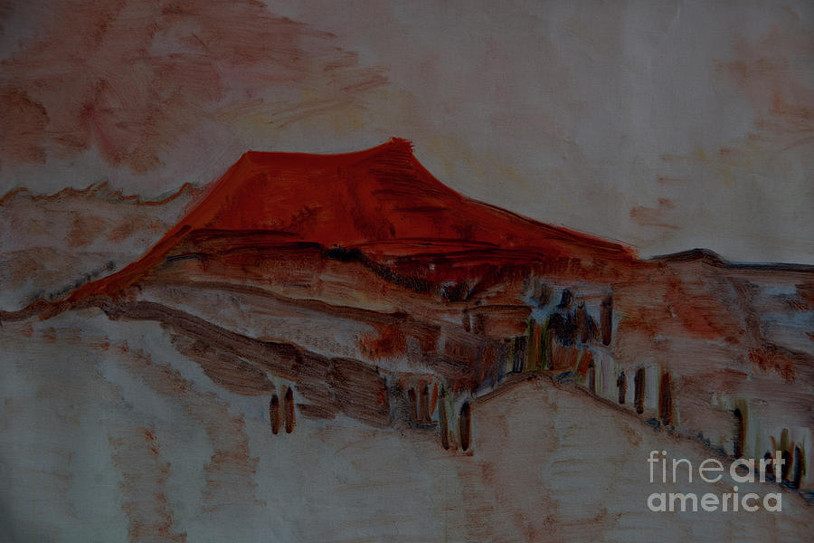The Red Rigi Painting