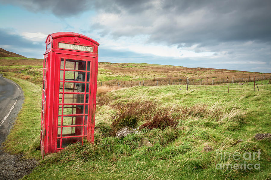 The Red Telephone Box On Skye Photograph