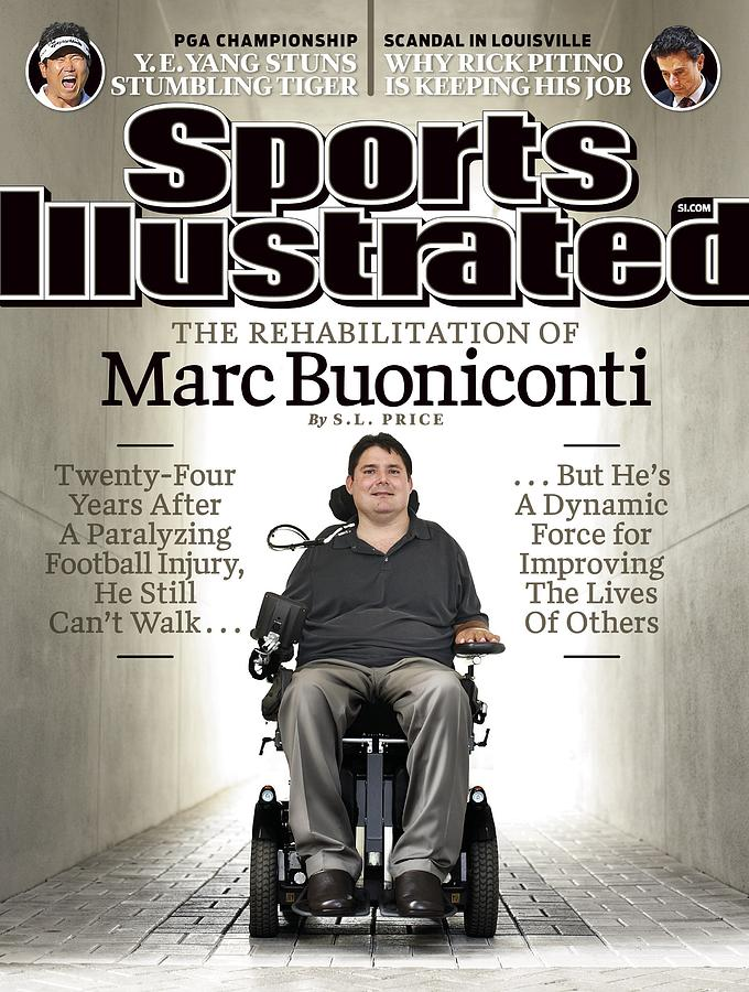 The Rehabilitation Of Marc Buoniconti Sports Illustrated Cover Photograph by Sports Illustrated