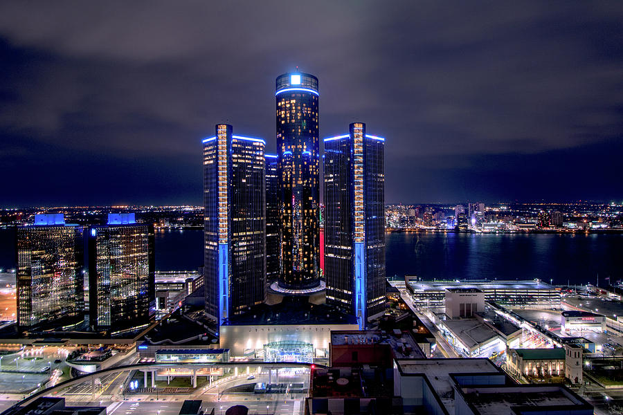 The RenCen and Windsor by Jay Smith