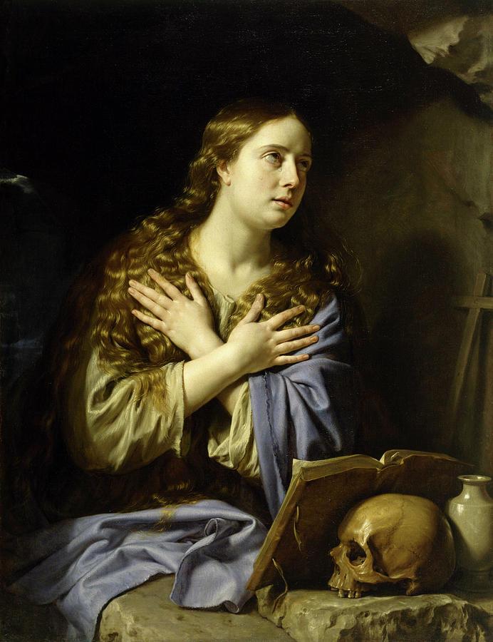 Philippe De Champaigne Painting - The Repentant Magdalen, 1648 by Philippe de Champaigne