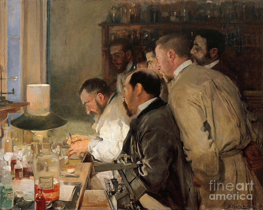 The Research. Artist Sorolla Y Bastida Drawing by Heritage Images