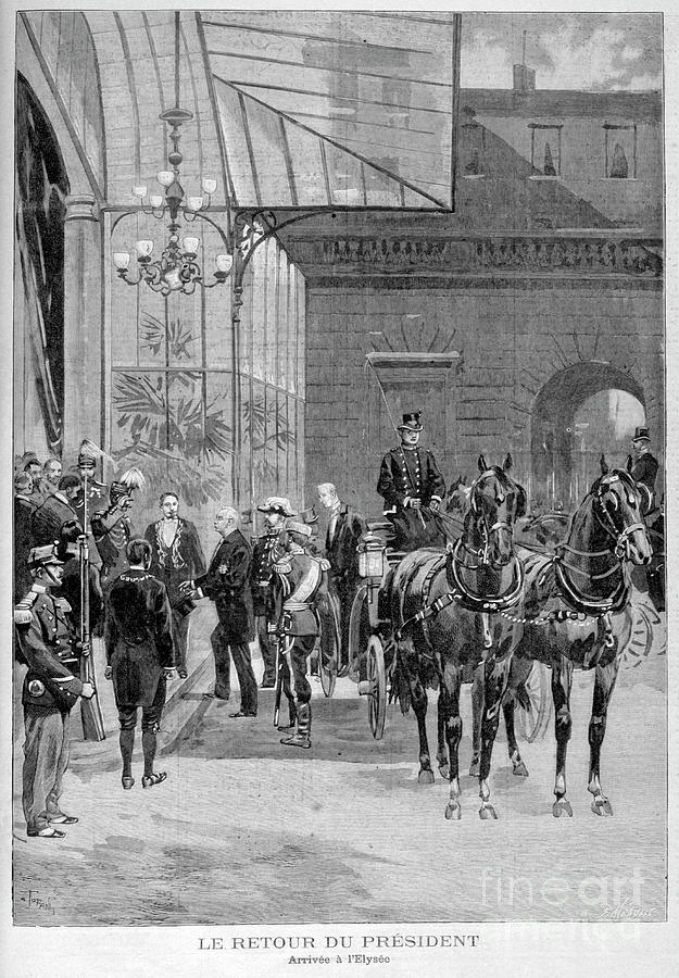 The Return Of Felix Faure, President Drawing by Print Collector