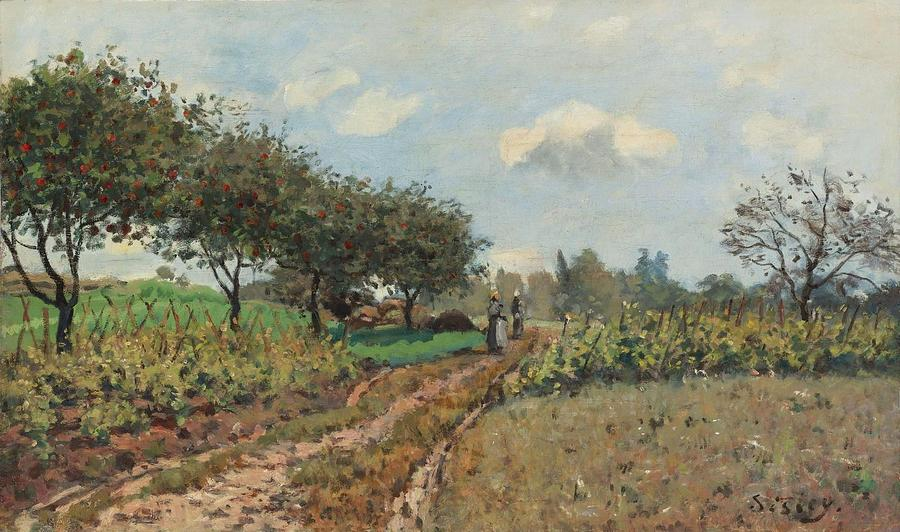 Alfred Sisley Painting - The Road At Campagne, 1876 by Alfred Sisley