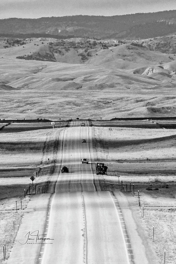 Highway Photograph - The Road From Casper by Jim Thompson