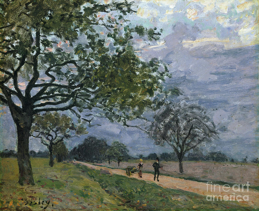 The Road From Versailles To Louveciennes Drawing by Heritage Images