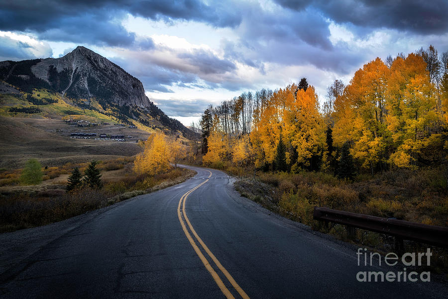 The Road into Crested Butte Colorado by Ronda Kimbrow