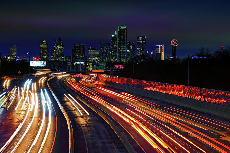The Road to Dallas - Dallas Skyline - Tom Landry Freeway by Jason Politte