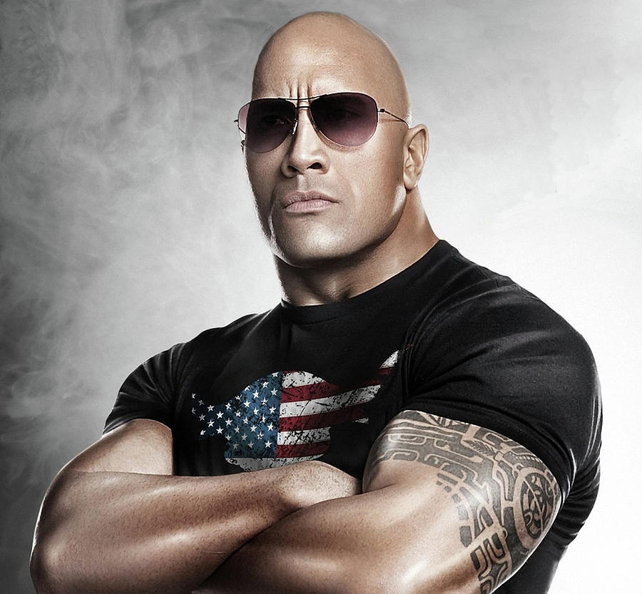 The Rock Photograph - The Rock Dwayne Johnson I I by Movie Poster Prints