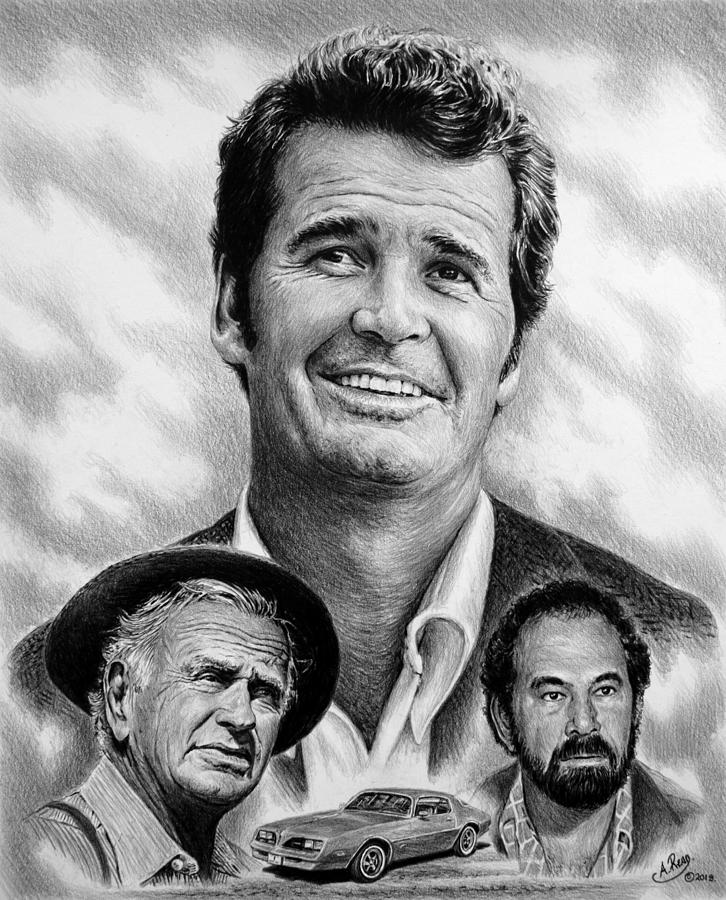 The Rockford Files Drawing - The Rockford Files by Andrew Read