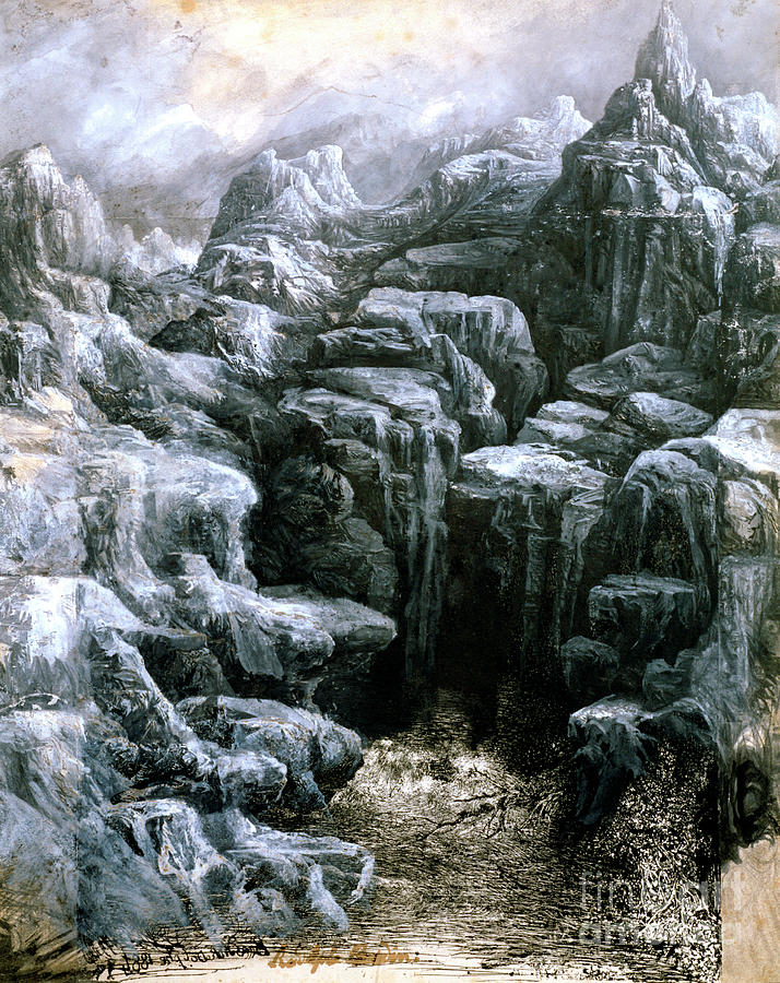 The Rocks, C1842-1885. Artist Rodolphe Drawing by Print Collector
