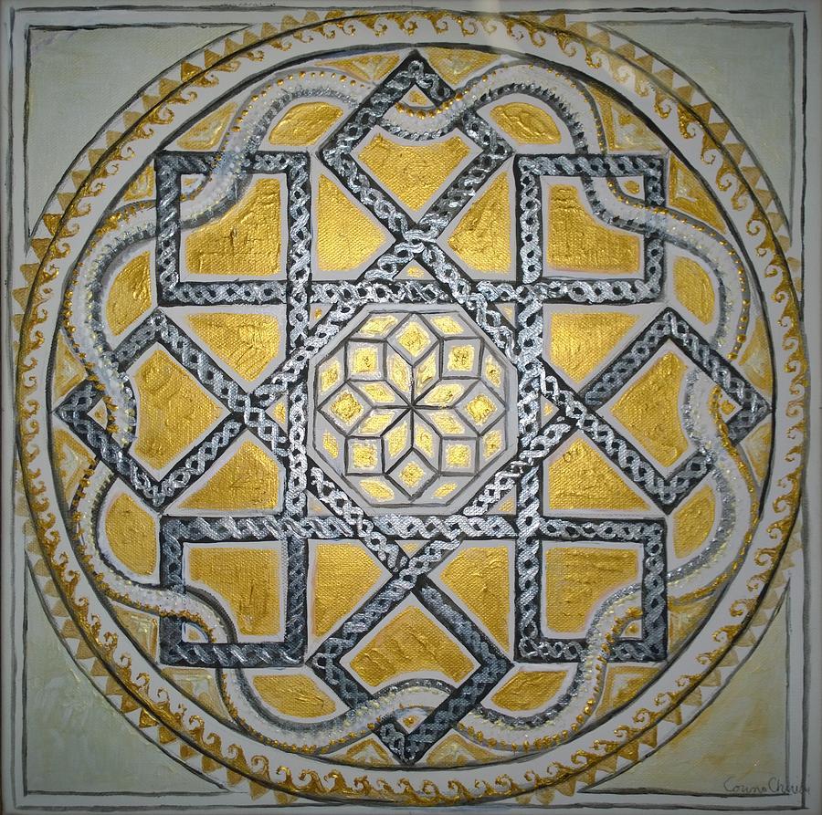 Mandala Painting - The Roman Mandala At Tomis by Chirila Corina