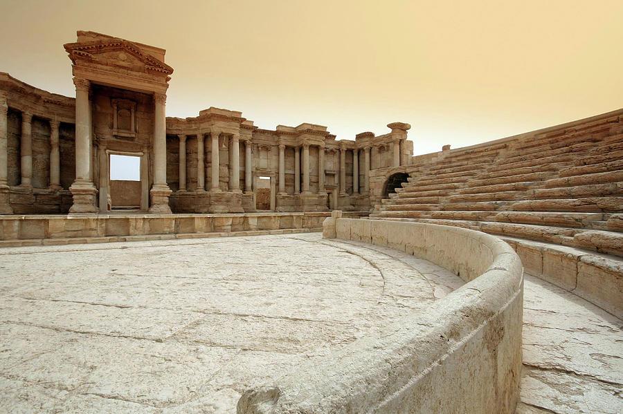 The Roman Theatre, Palmyra Photograph by Joe & Clair Carnegie / Libyan Soup