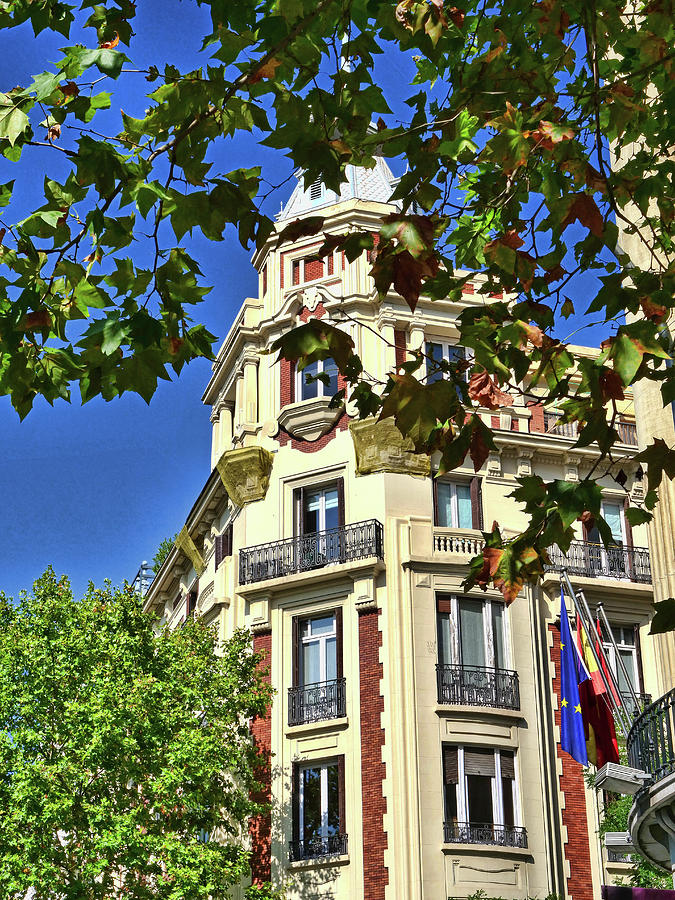 The Rounded Corner Buildings # 2 - Madrid Photograph