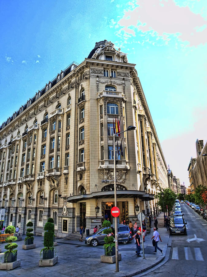The Rounded Corner Buildings - Madrid Photograph