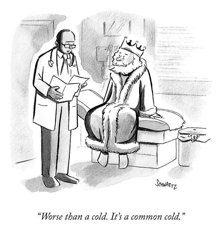 The Royal Diagnosis Drawing by Benjamin Schwartz