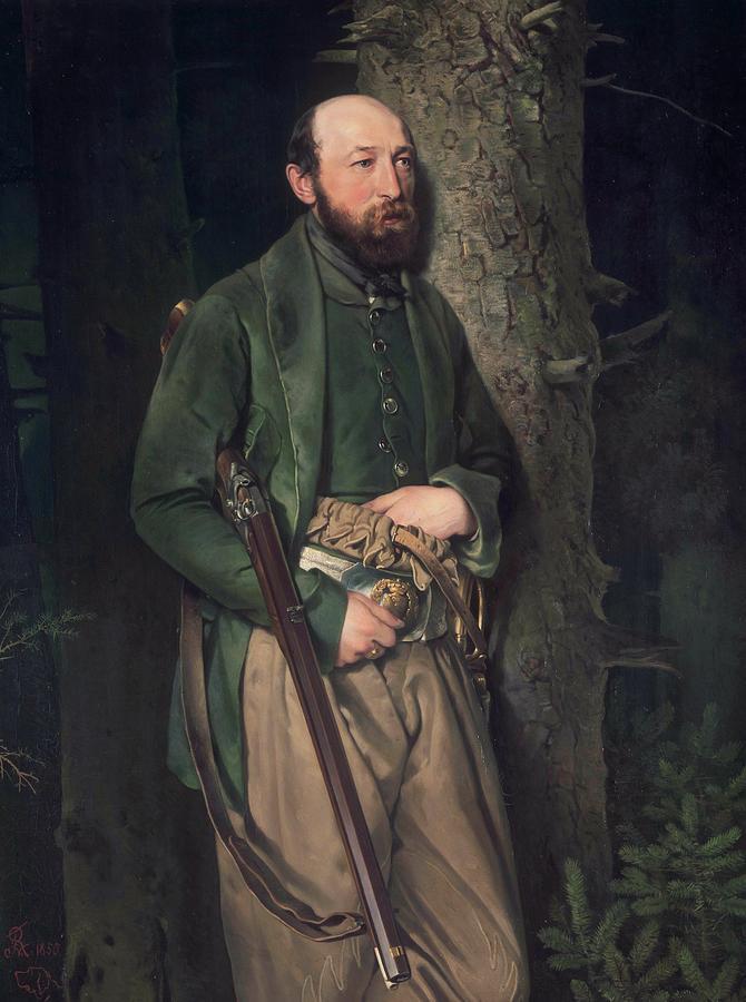 Painting Painting - The Royal Saxon Forestry Inspector Carl Ludwig Von Schonberg by Ferdinand von Rayski