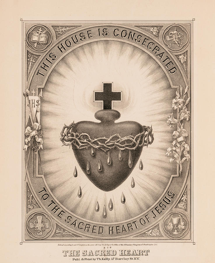 Sacred Heart Painting - The Sacred Heart, 1874 by Thomas Kelly