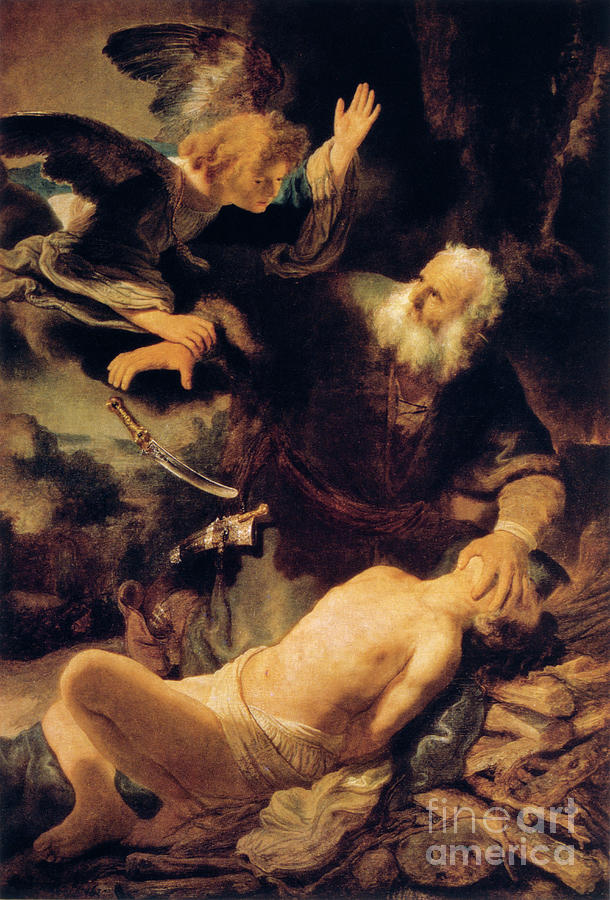 The Sacrifice Of Isaac, 1635. Artist Drawing by Print Collector