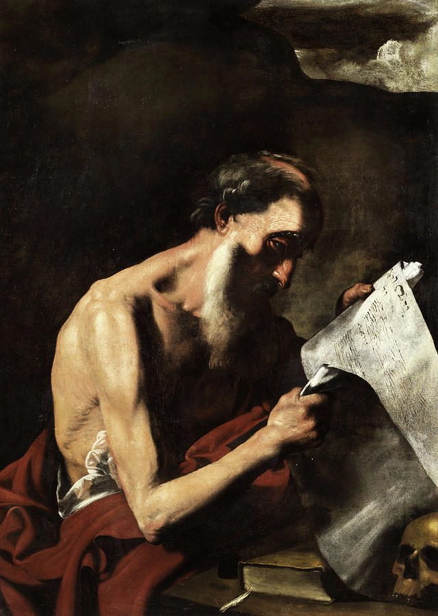 Jusepe De Ribera Painting - The Saint Jerome by Jusepe de Ribera