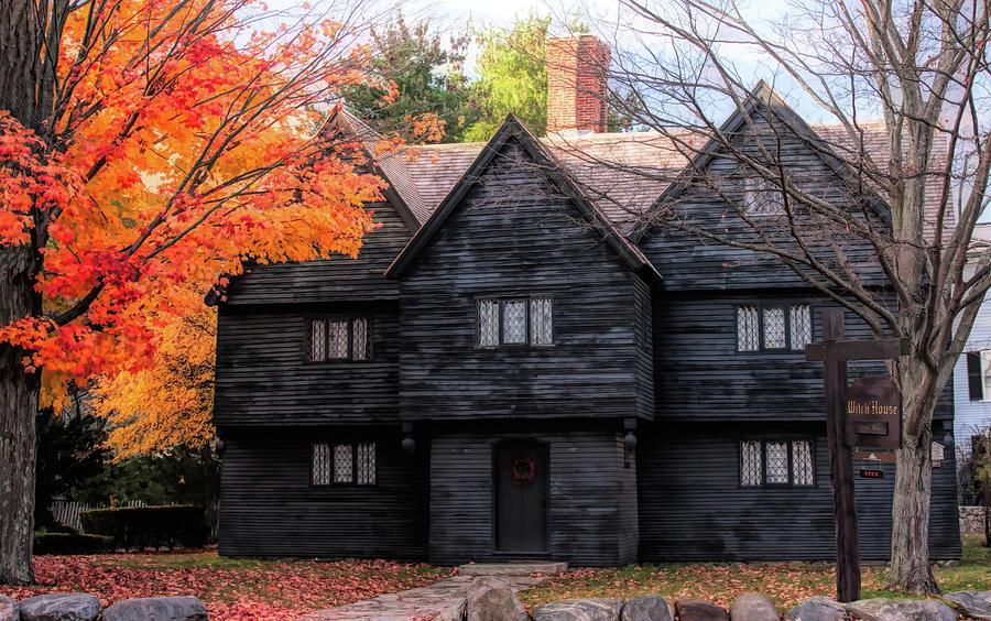 Salem Photograph - The Salem Witch House by Jeff Folger