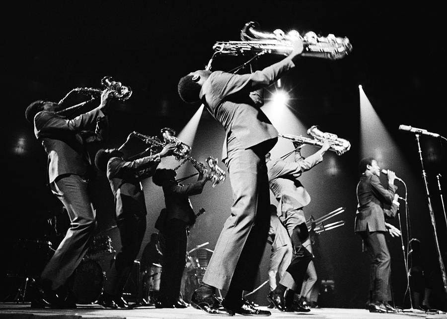 The Sam & Dave Horn Section On Stage Photograph by Jack Robinson