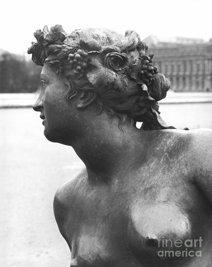 Versailles Sculpture - The Saone River From The Parterre Deau In The Gardens, 1685, Detail, Bronze by Jean Baptiste I Tuby