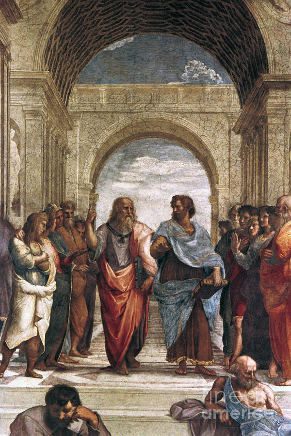 The School Of Athens, Detail Of Plato & Drawing by Print Collector