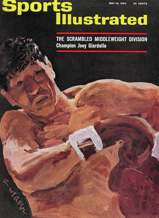 The Scrambled Middleweight Division Champion Joey Giardello Sports Illustrated Cover Photograph by Sports Illustrated