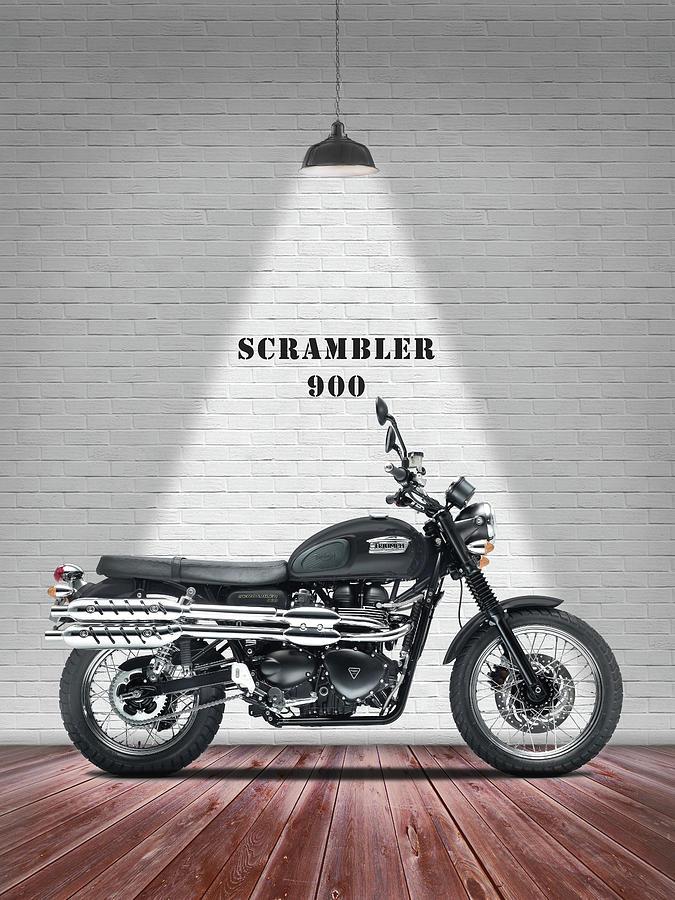 Triumph Scrambler Photograph - The Scrambler 900 by Mark Rogan