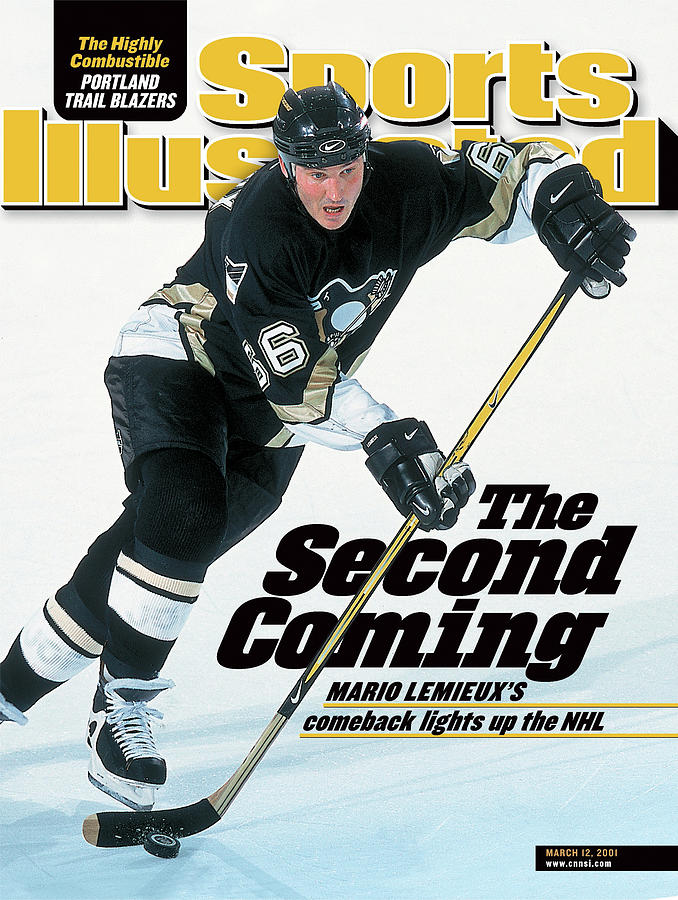 The Second Coming Mario Lemieuxs Comeback Lights Up The Nhl Sports Illustrated Cover Photograph by Sports Illustrated